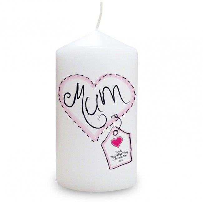 Mum personalised candle