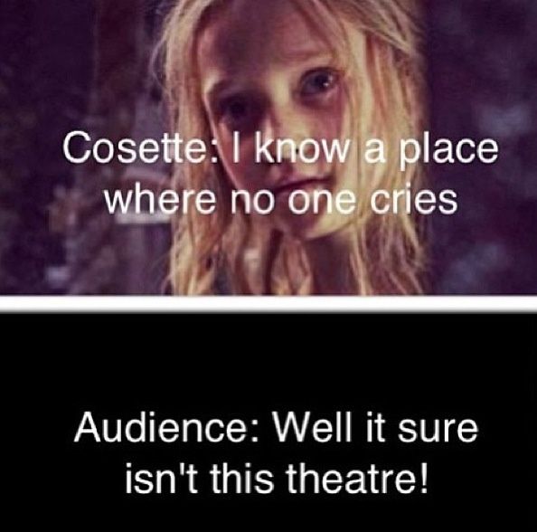 Cosette: Obviously cinemas are not equivalent to castles on clouds. @Galen Hughes This was us for sure.