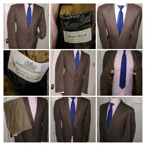 £59.99 Mens AQUASCUTUM Regent Street London Brown Check Suit Jackets. 42R @ www.brandsandheels.com . Worldwide Shipping #fashion #menswear #menclothing #mensshopping #christmas #mensgift #suitjacket #menssuit  #gifts