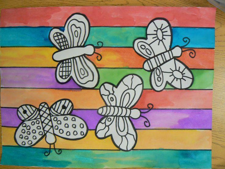 Warm and Cool Butterflies - Mrs. Ts First Grade Class