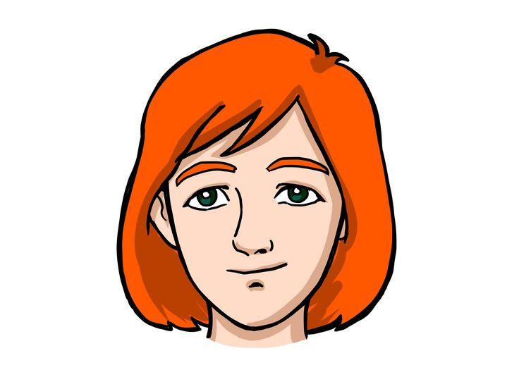 cartoon woman face - HD3200×2400