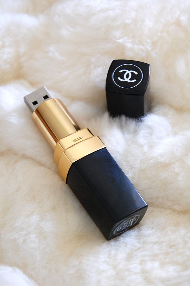 Chanel lipstick USB flash drive memory stick | A little kitschy maybe but still really fun for the fashion or makeup lover.