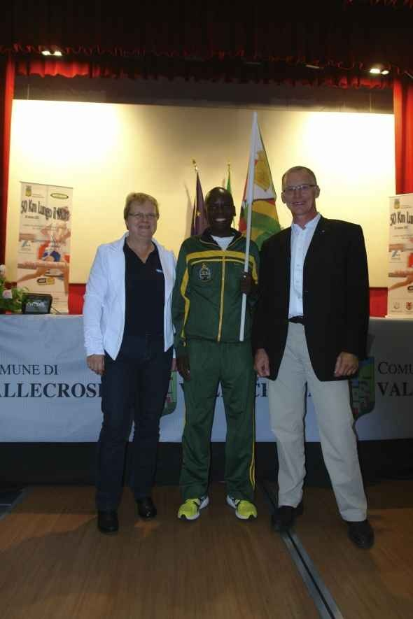 Zimbabwe's Darling - Collen Makaza, 2nd in Final IAU 50K World Trophy 2012 in Vallecrosia-Bordighera (ITA) October 20 2012