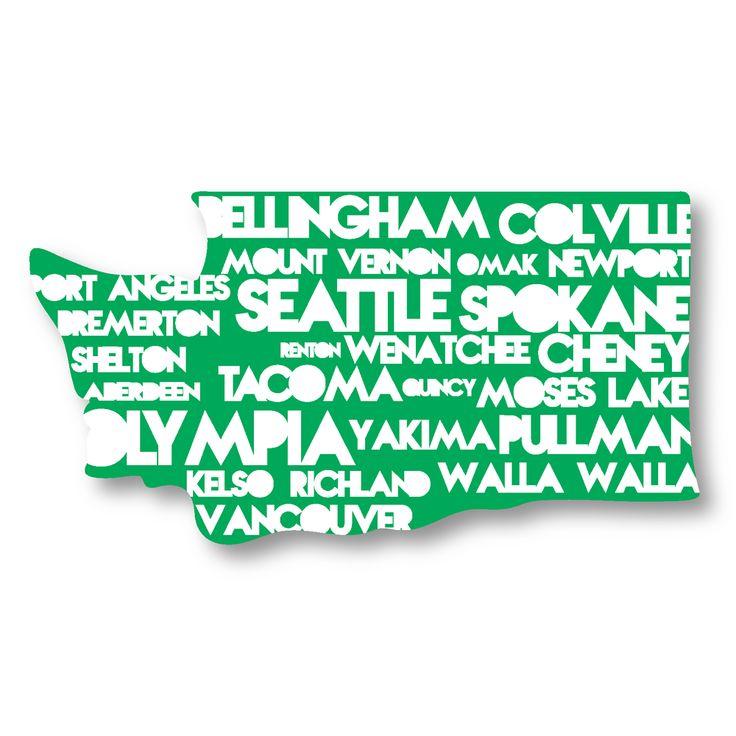 WA Cities sticker stickersnorthwest.com