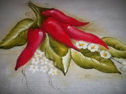 Resultado de imagem para pintura de pimentas