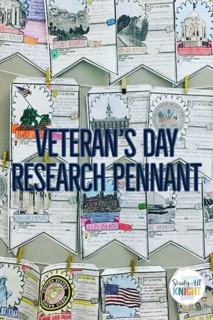 VETERANS DAY, SYMBOLS OF FREEDOM, RESEARCH, PENNANT, MAKE