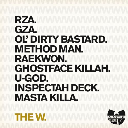 A sampling of some classic Wu-Tang covers, redesigned with a vague Blue Note Records aesthetic. Featured in the New York Times, New York Magazine, the FontFeed, Kottke.org, and more.
