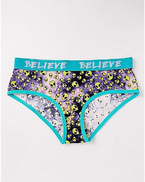 6d941f9a5 I Believe Alien Panties - Spencer s