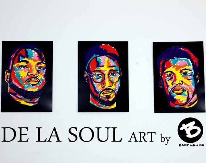 DE LA SOUL 3 posters. wall art. gift for hip hop fan by BARTakaBA. hiphop poster. Art poster. music poster. wall decor music art rap art