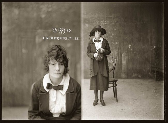 Portraits of a Criminal 1920s from the Sydney Police Archives