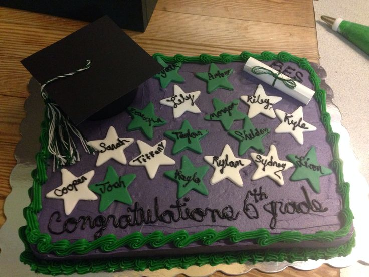 10 best images about 6th grade graduation cakes on for 6th grade graduation ideas
