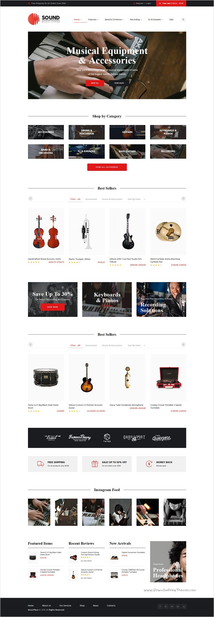 Sound is wonderful 3 in 1 responsive #WordPress #template for #musical instruments online #store website download now➩ https://themeforest.net/item/sound-musical-instruments-online-store/17537788?ref=Datasata