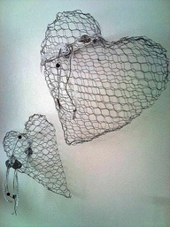 Chicken Wire Hearts