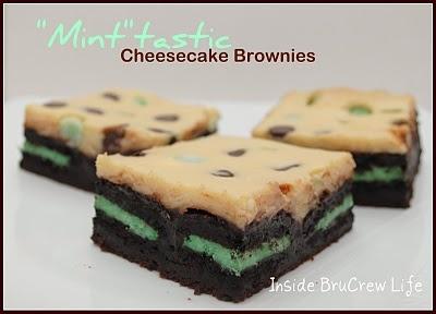 minty cheesecake brownies yum