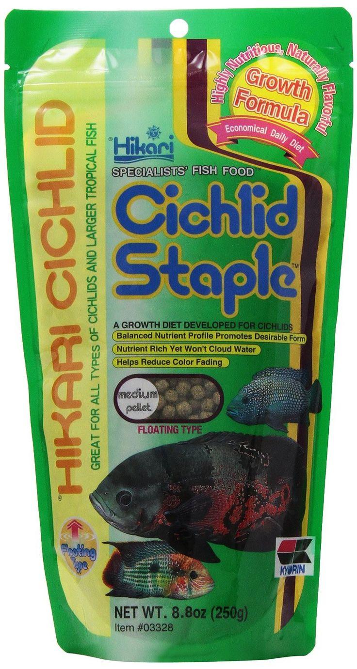 Hikari Fish Food Cichlid Staple Medium Pellets 8.8 oz