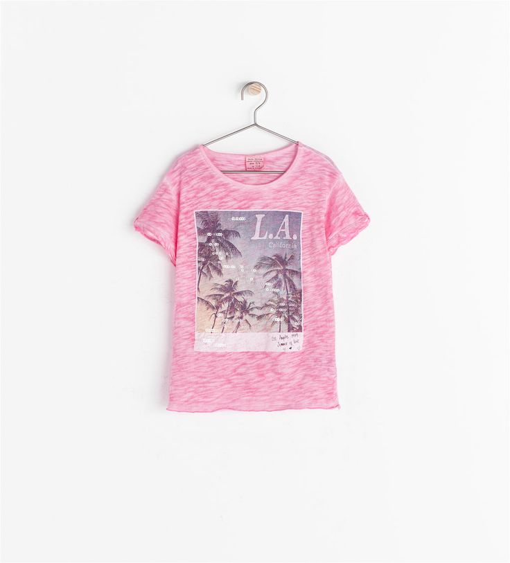 Image 2 of PRINTED T-SHIRT WITH SEQUINS from Zara