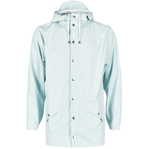 Men's Light Blue Jacket (125 CAD) ❤ liked on Polyvore featuring men's fashion, men's clothing, men's outerwear, men's jackets, mens rain coat, mens raincoat, mens jackets and mens mac coat