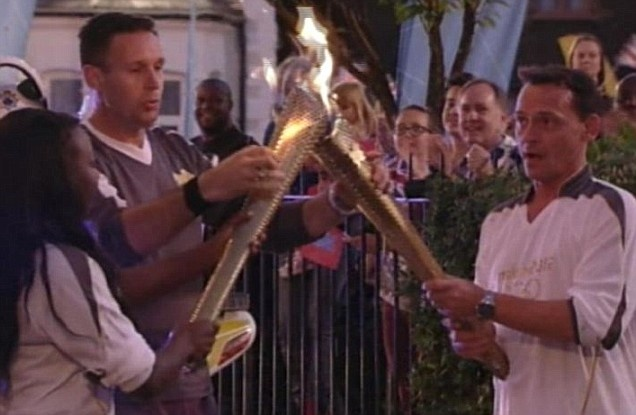 Eastenders link to the Olympic Torch - Billy Mitchell (Perry Fenwick) - go Billy!