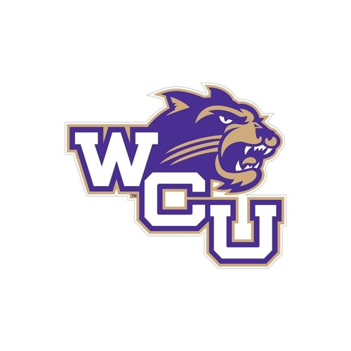 Western Carolina - Western Carolina University Small Magnet WCU w/Head, 6 in W