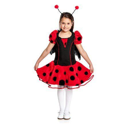 Kostümplanet® Marienkäfer Kostüm Kinder + Haarreif Marienkäferkostüm Kinderkostüm (ohne Flügel) Größe 152