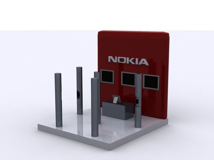 Nokia cell phone booth designed using Autodesk 3ds Max software