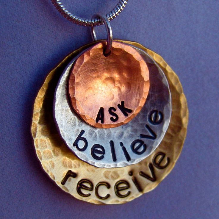Law Of Attraction - Keep the Law of Attraction close to your heart with this Ask, Believe, Receive necklace from Dream Acre Designs. #law_of_attraction #hand_stamped_jewelry - Are You Finding It Difficult Trying To Master The Law Of Attraction?Take this 30 second test and identify exactly what is holding you back from effectively applying the Law of Attraction in your life...