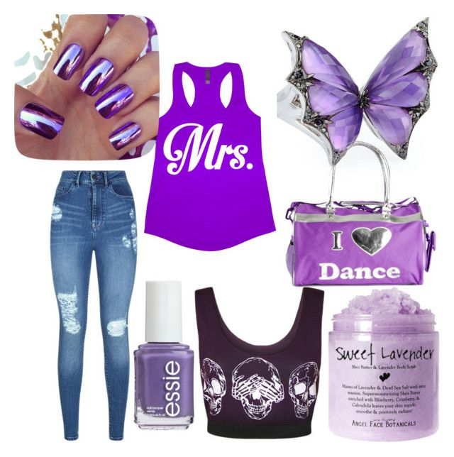 """purple,purple and more purple"" by sonny-weigle ❤ liked on Polyvore featuring Stephen Webster, Lipsy, WearAll, Bloch and Essie"