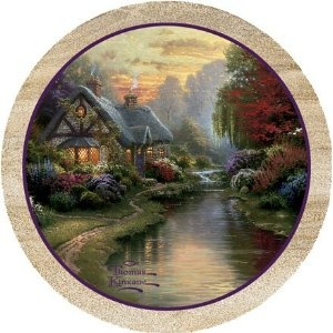 I can't remember which picture I got exactly but I found really pretty Thomas Kinkade coasters for living room.