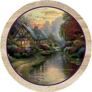 A Quiet Evening - Thomas Kinkade Thirstystone Coasters