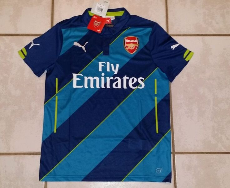 NWT PUMA Arsenal Soccer 2014/2015  Jersey Youth Large   | eBay