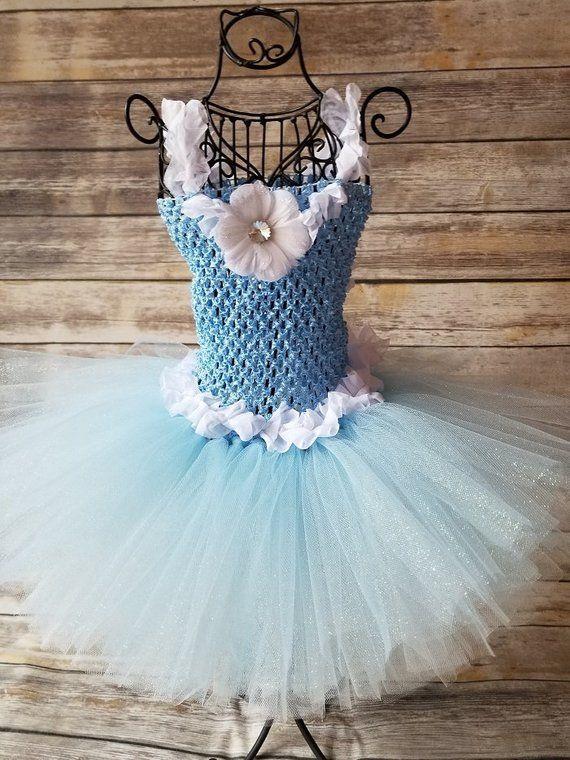 c77027e58 Flower girl tutu dress, White Blue tutu dress, Flower girl tutu, Light blue  tutu, Baby Blue tutu, Princess tutu, Flower girls toddler dress # princesstutu ...