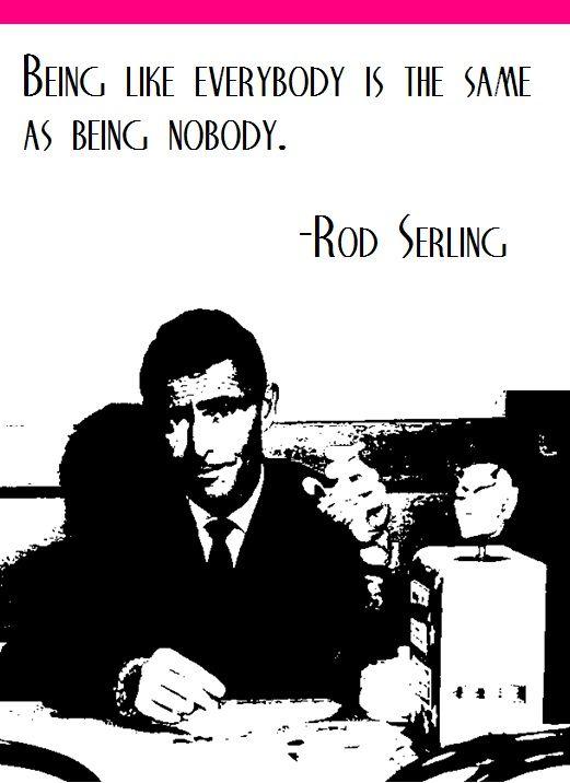 Twilight Zone's Rod Serling on individualism...