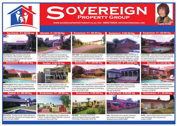 Sovereign property group advert alberton