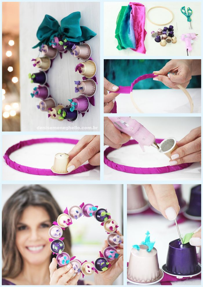 DIY Nespresso Cup Wreath DIY Projects