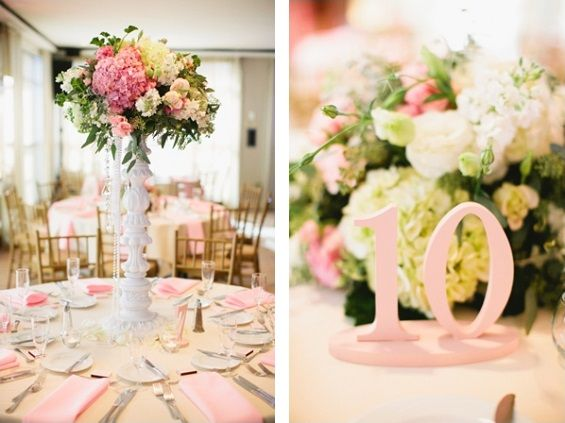 Springy pink wedding details. Photos by Inkspot Photography via Heart Loves Weddings.