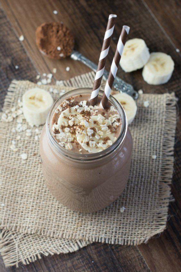 idée smoothie à la base de chocolat, un smoothie délicieux et bon pour la santé