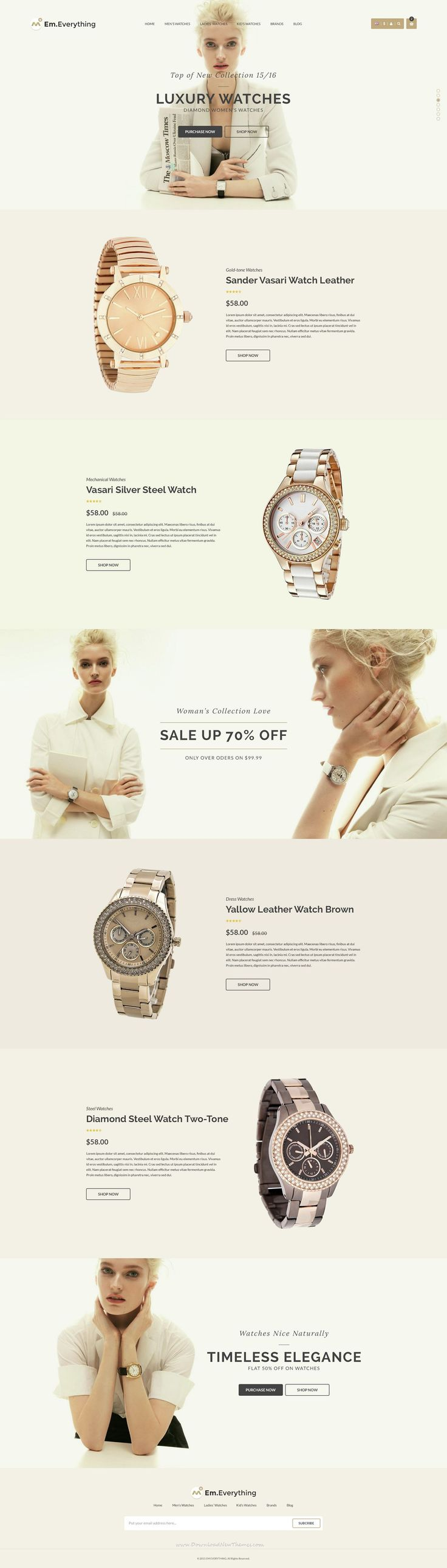 Everything - Multipurpose Responsive Prestashop Theme for Marvelous Luxury #Watches Online eCommerce #website design - Luxury Beauty - amzn.to/2hZFa13 luxury beauty products - http://amzn.to/2hu7dbB