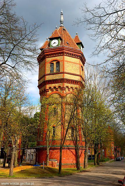 Szpitalna wieża ciśnień wybudowana w 1903 r. w Międzyrzeczu - Obrzycach.