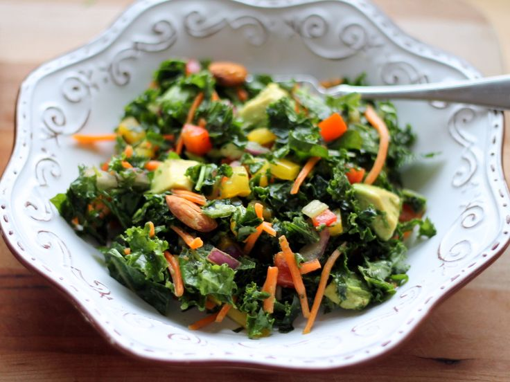 Kale Rainbow Detox Salad with Lemon Vinaigrette {vegan, gluten free} | Ambitious Kitchen