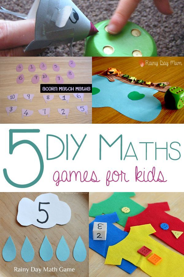 5 Simple DIY Math Games for you to make at home to support your child's learning at school and preschool and make learning fun.