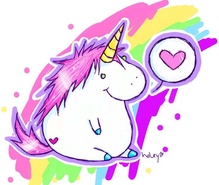 Fat Unicorn cute kawaii unicorn My