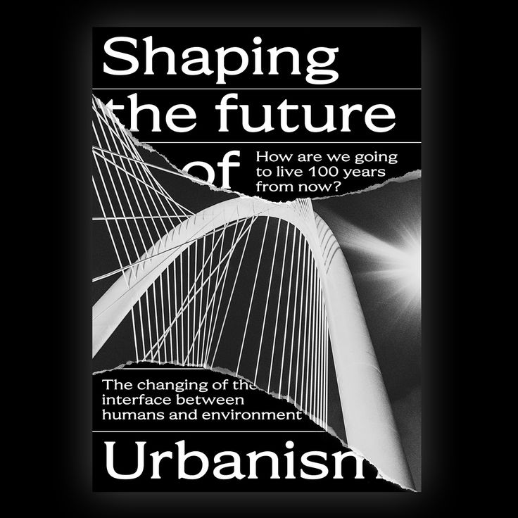 poster series / shaping the future of urbanism / photos by @timkolczak and @kimonmaritz #visual #visuals #typography #visualcommunication #print #graphicdesign #design #urbanism #architecture #architektur #future #futureofarchitecture #city #urban #typeface #type #dailytype #poster #contemporary #font #work #medium #blackandwhite #black #society #living #yearsfromnow #graphics #photography #inspiration