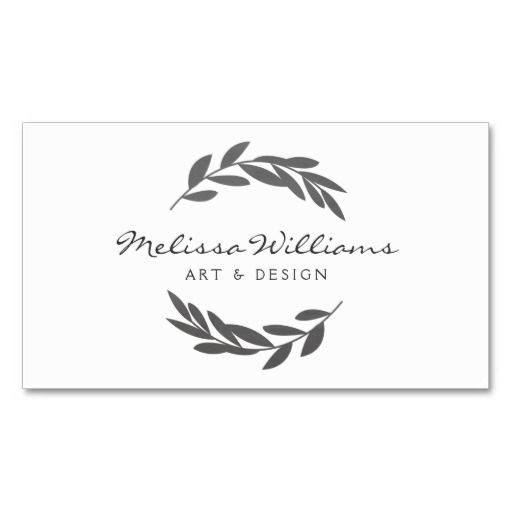 221 best craft artist business cards images on pinterest lyrics rustic olive branch wreath logo business card fbccfo Images