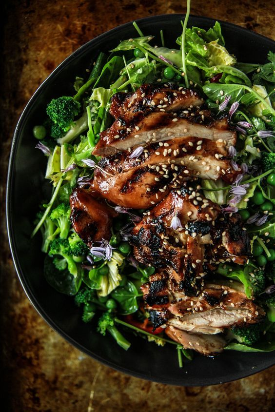 Chicken Teriyaki Salad- gluten free from HeatherChristo.com