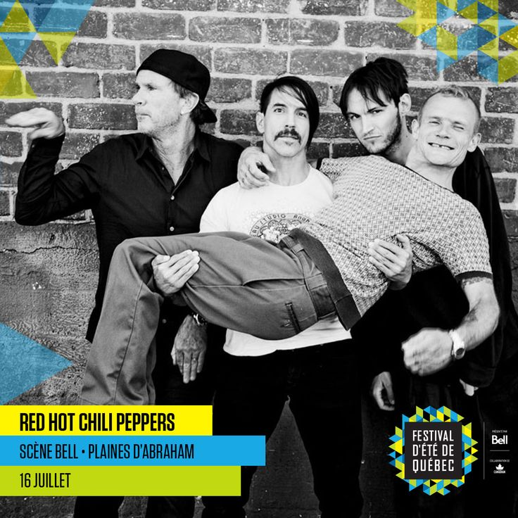 Red Hot Chili Peppers, 16 juillet 2016, scène Bell des plaines d'Abraham.