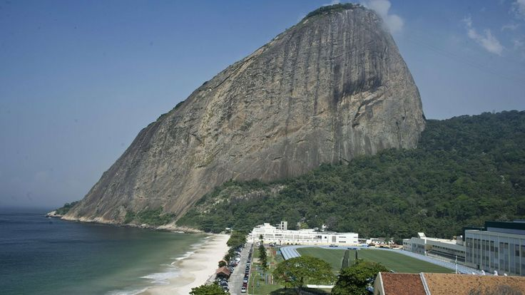 A view of Sugar Loaf mountain from England's training ground during World Cup 2014. Wow. #ComeOnEngland