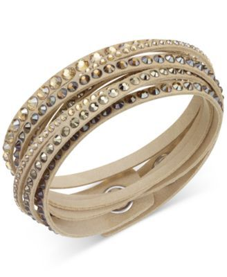 Swarovski Slake Deluxe Crystal Stud Wrap Bracelet. I love it in the white