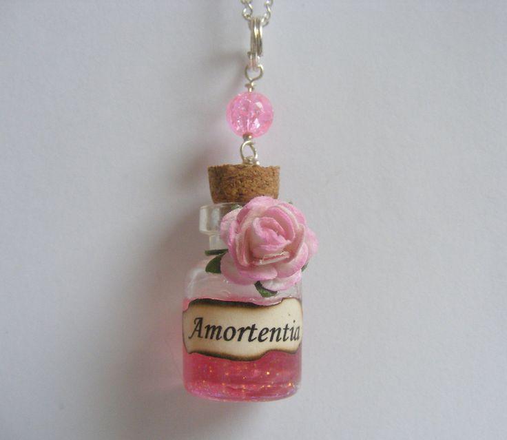 Harry Potter Inspired Amortentia Potion Bottle Pendant - Miniature Food Jewelry. £11.99, via Etsy.