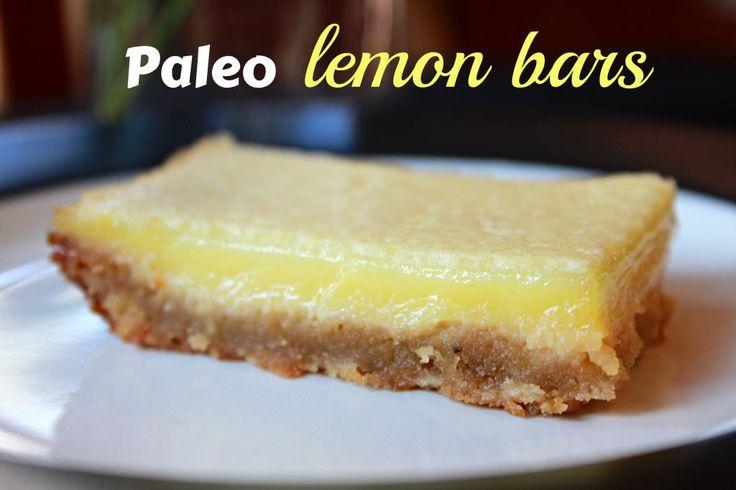 Paleo Lemon Bars (I don't use agave nectar so I will substitute honey)