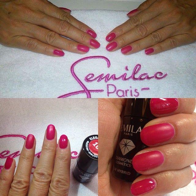 #manicure #semilac #shine #matt #color #semilac103 #elegant #raspberry #hybryda #beautyfull